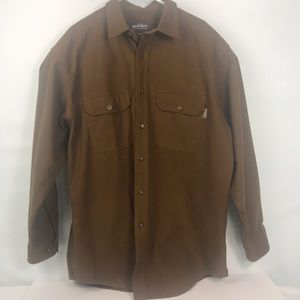 Woolrich Brown Large Heavy Cotton Flannel B11